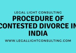 Procedure of Contested Divorce in India on legal light consulting