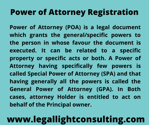 legal light consulting power of attorny