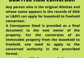 legal light consulting DDA Free Hold Conversion