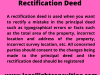rectification deed by llc lawyer