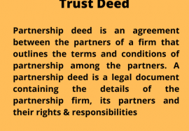 Trust deed by legal light consulting
